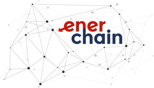 Logo del proyecto Enerchain. Transacciones de energía con tecnología Blockchain.