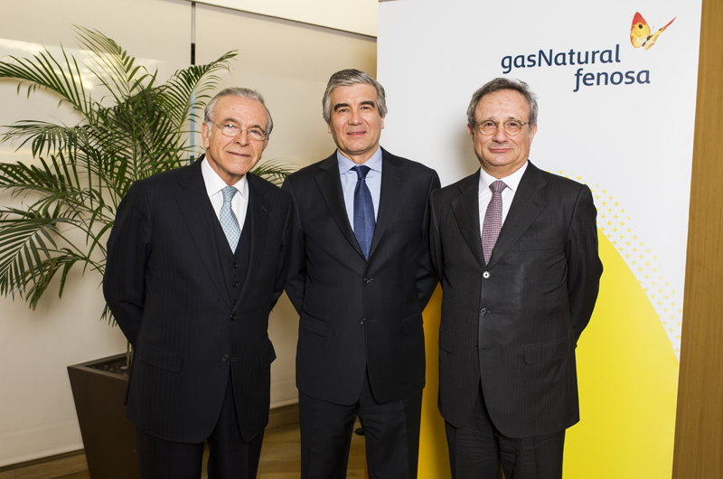 Rafael Villaseca, Francisco Reynes e Ignacio Fainé, Gas Natural Fenosa.