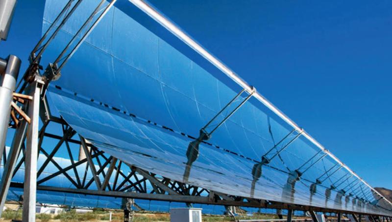 Paneles solares de concentración.