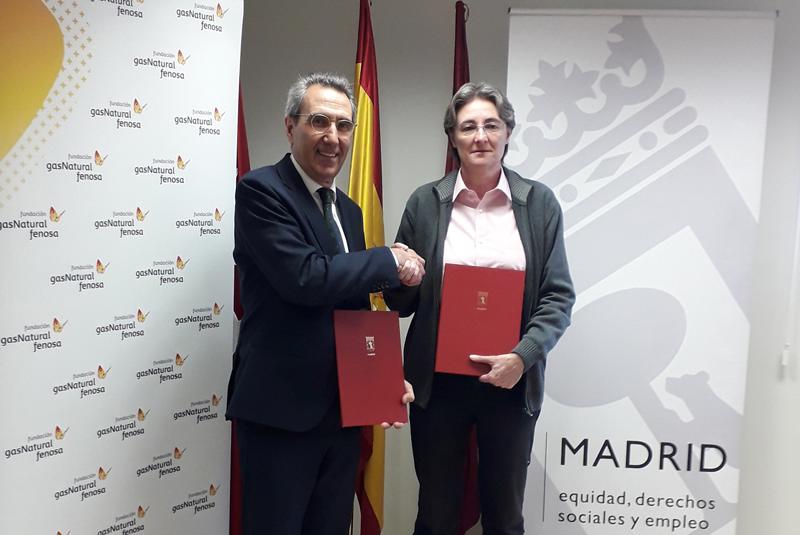 Ayuntamiento de Madrid y Fundacion Gas Natural Fenosa firman el acuerdo de colaboración en materia de pobreza energética y rehabilitación de viviendas de familias en situación de vulnerabilidad social.