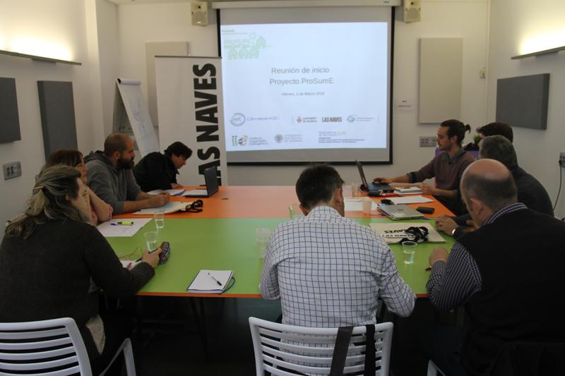Reunión del consorcio del proyecto ProSumE.