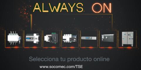 Gama de conmutación/transferencia  AlwaysOn de Socomec
