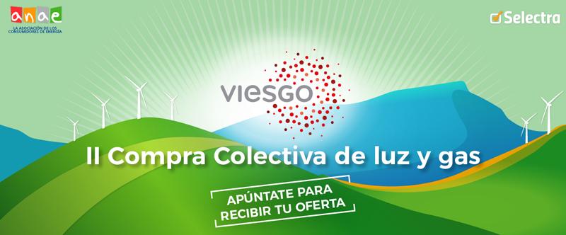 Anuncio de la II Compra Colectiva de luz y gas de Anae y Selectra que ha ganado Viesgo.