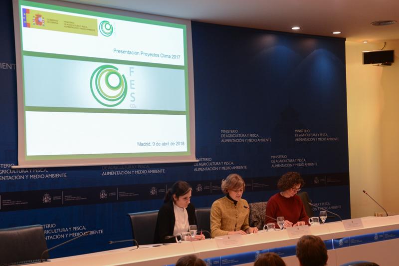 Presentación de los Proyectos Clima con la Ministra de Agricultura, Pesca y Medio Ambiente