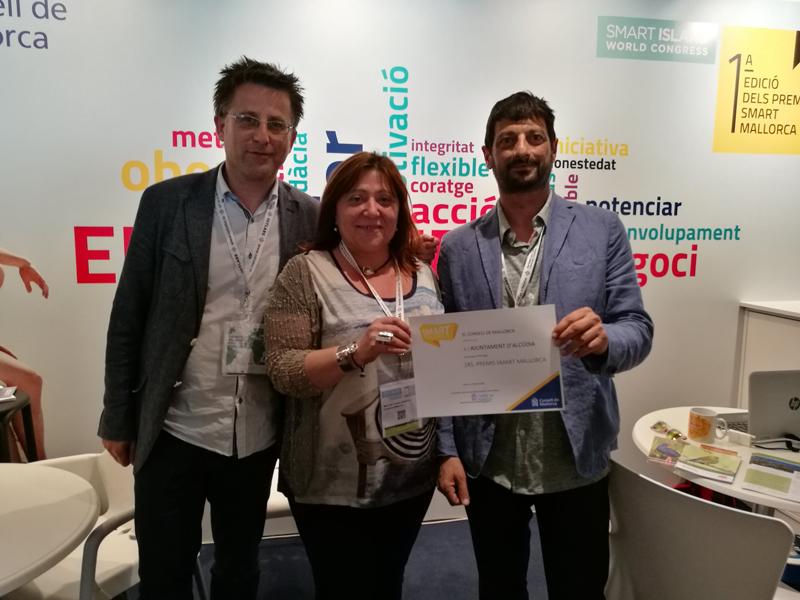 Entrega de los Premios Smart Mallorca al Ayuntamiento de Alcúdia.
