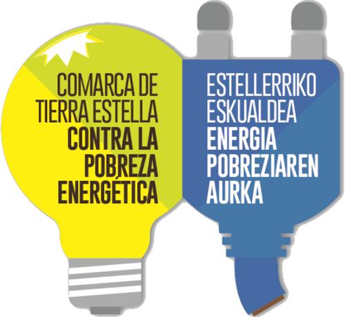 """Logo del programa """"Comarca de Tierra Estella contra la pobreza energética""""."""