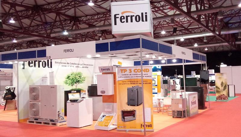 Stand de Ferroli en la II Feria de Energía de Galicia.
