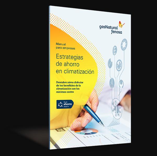 Portada del e-book de Gas Natural Fenosa sobre Estrategias de Ahorro en Climatización.