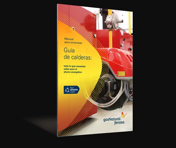 """Libro digital de Gas Natural Fenosa titulado """"Guía de calderas""""."""