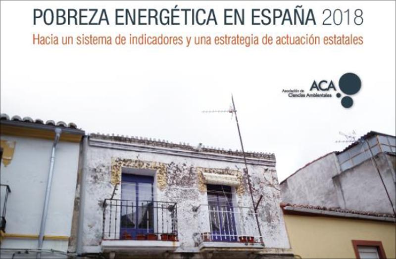 Fragmento de la portada del Informe Pobreza Energética en España 2018 de ACA.