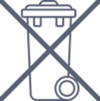 Símbolo para marcar los productos de material eléctrico.