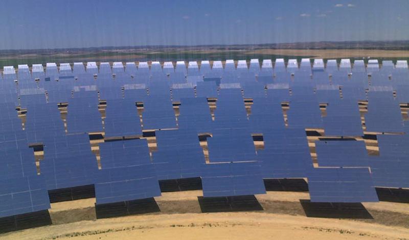 Planta fotovoltaica en Andalucía.