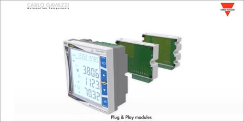 Vídeo sobre WM20. Analizador modular inteligente de energía de Carlo Gavazzi