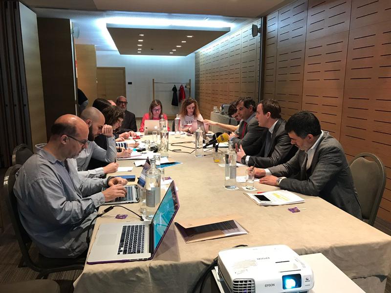 Instantánea de la presentación del Barómetro 2018 del sector de la energía eficiente en Cataluña.