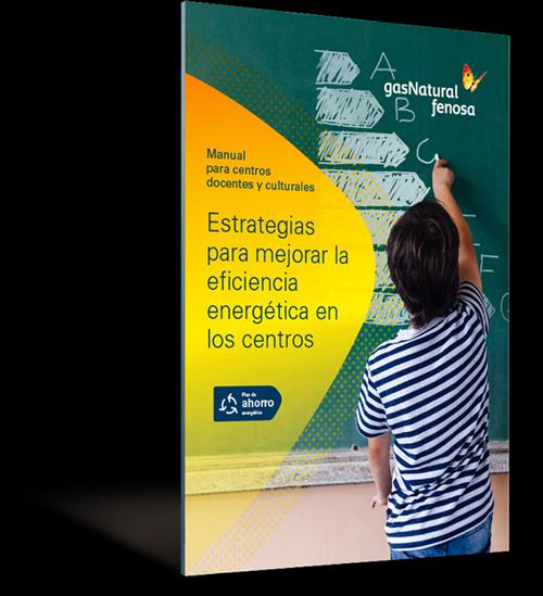 Portada del libro digital de Gas Natural Fenosa sobre eficiencia energéica en los centros docentes y culturales.