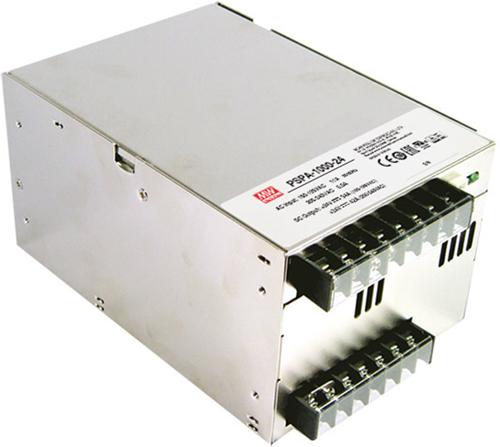 Fuente de alimentación de alta potencia PSPA-1000 de Mean Well, distribuido por Olfer.