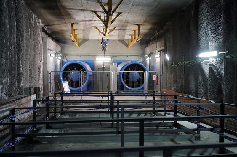 Ventilación Túnel Metro de Madrid.