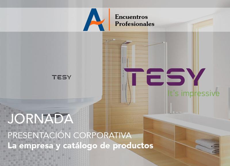 Anuncio de la jornada de presentación corporativa de Tesy en Agremia el 31 de mayo de 2018.