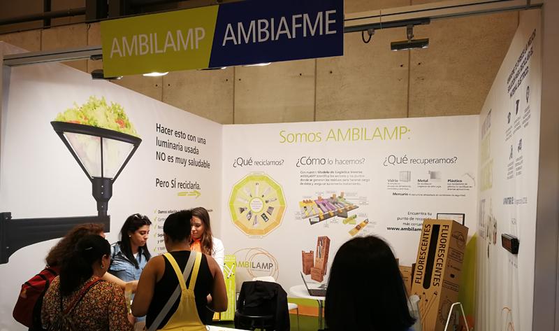 Stand de Ambilamp y Ambiafme en TECMA 2018.