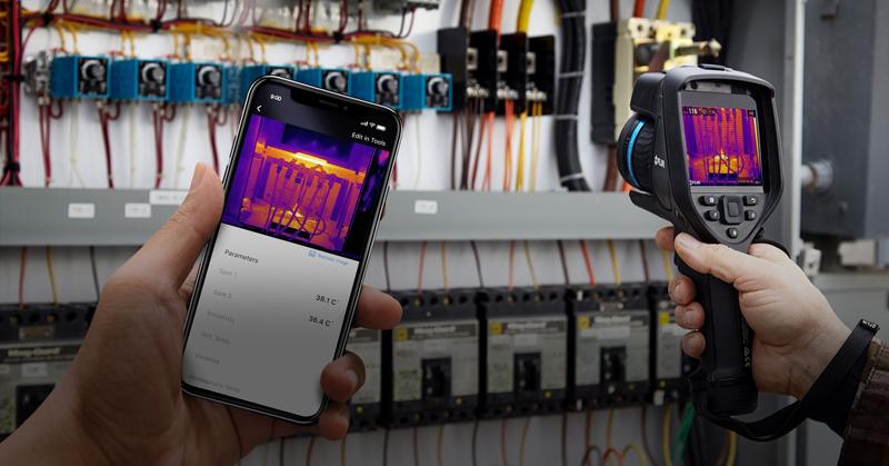 Cámara termográfica y aplicación móvil FLIR InSite.