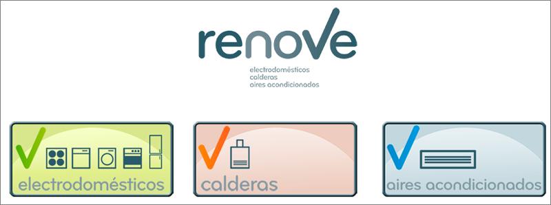 Anuncio Plan Renove de Electrodomésticos, Calderas y Aire Acondicionado del Gobierno de Aragón.