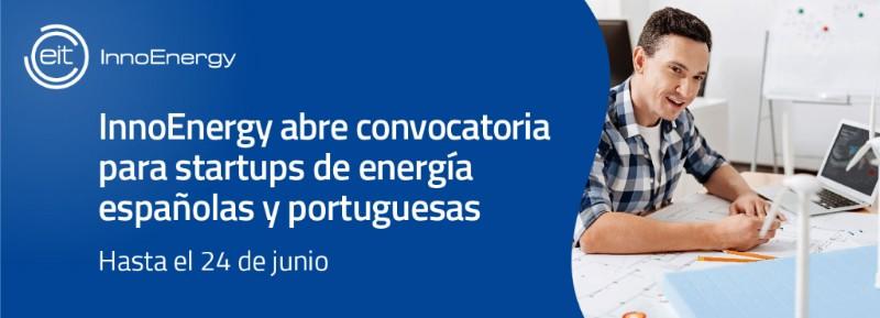 Anuncio de la convocatoria para startups de energía españolas y portuguesas.