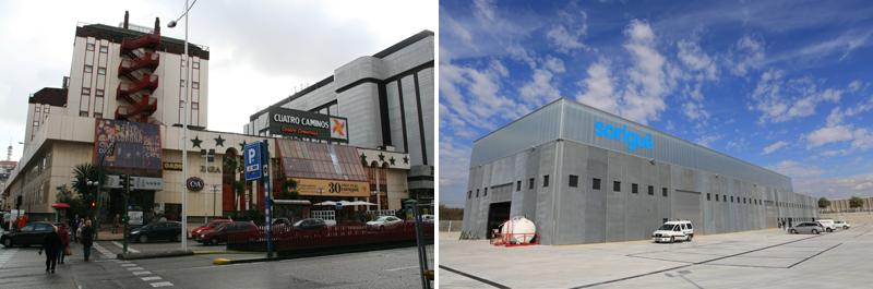 El Centro Comercial Cuatro Caminos, en A Coruña (izquierda) y la sede de Sorigué, en Tarragona (derecha), se han situado en el cuarto y quinto puesto de los premios.