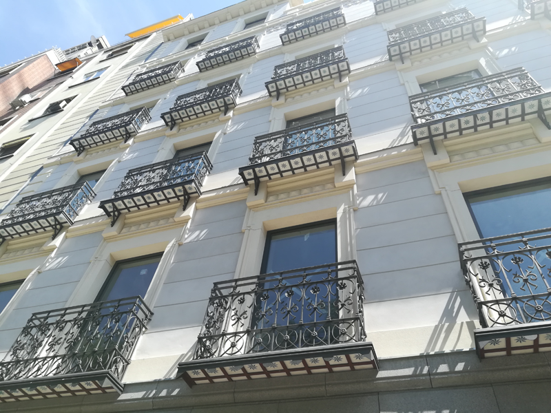 Fachada del edifico Paseo de la Castellana 76, en Madrid.