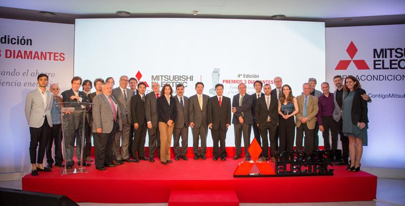Entrega de los Premios 3 Diamantes de Mitsubishi Electric. Foto de Grupo.