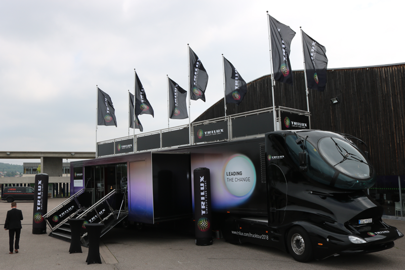 Truck Tour de Trilux que visitará Madrid y Barcelona.