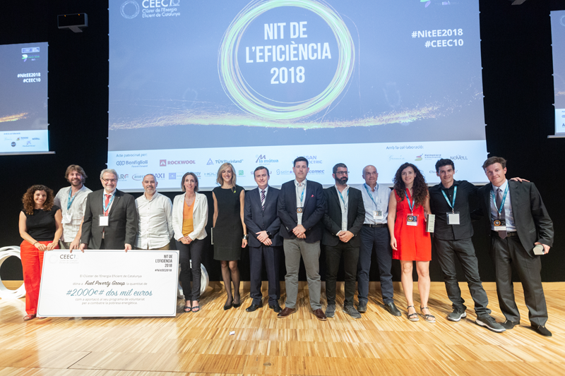 Galardonados con los Premios EmErgEnt de CEEC durante la Nit de la Eficiencia