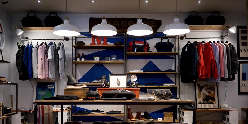 Tienda de ropa. Luminarias. Iluminación. Diseño. Retail.