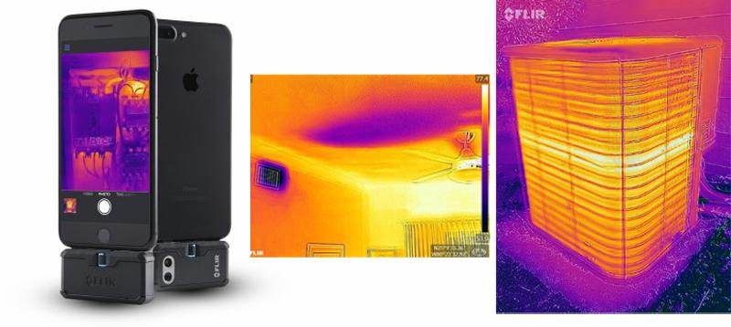 Imágenes termográficas captadas con FLIR ONE Pro Lt