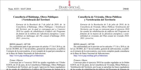 Convocadas las ayudas para mejorar la eficiencia energética de las viviendas en la Comunidad Valenciana