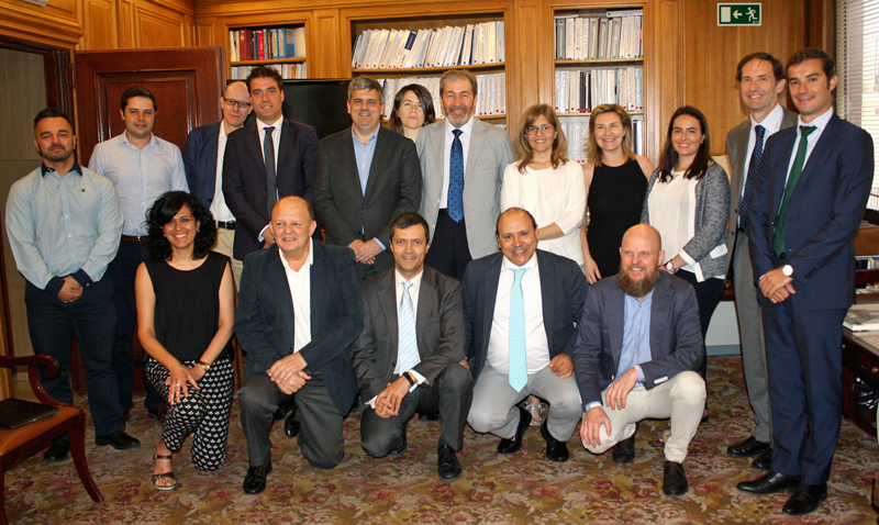 Foto de familia de la primera reunión del Comité Técnico del V Congreso Smart Grids.