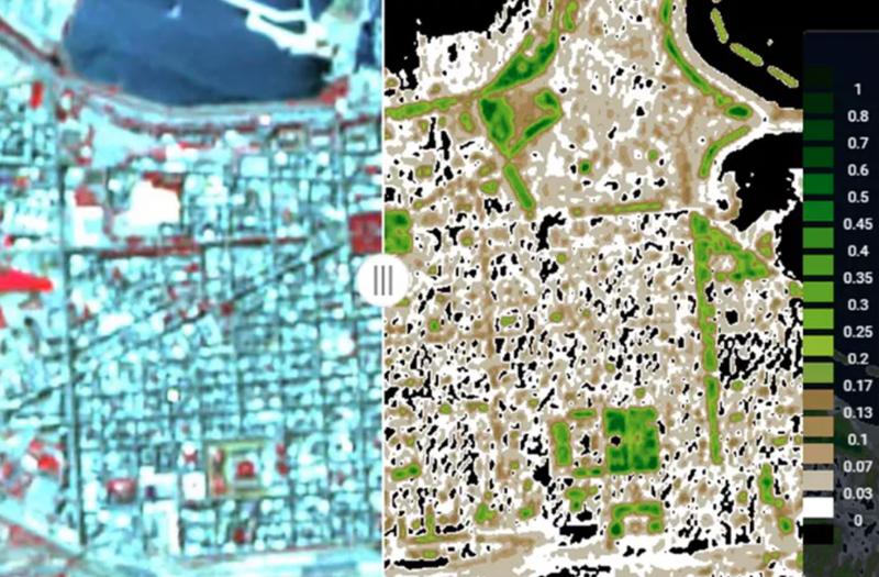 Imágenes por satélite.
