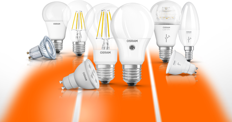 Lámparas LED de la marca Osram by LEDVANCE.