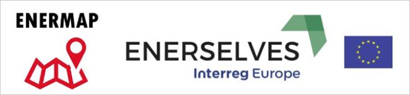 Logo de Enermap, Enerselves y la UE.