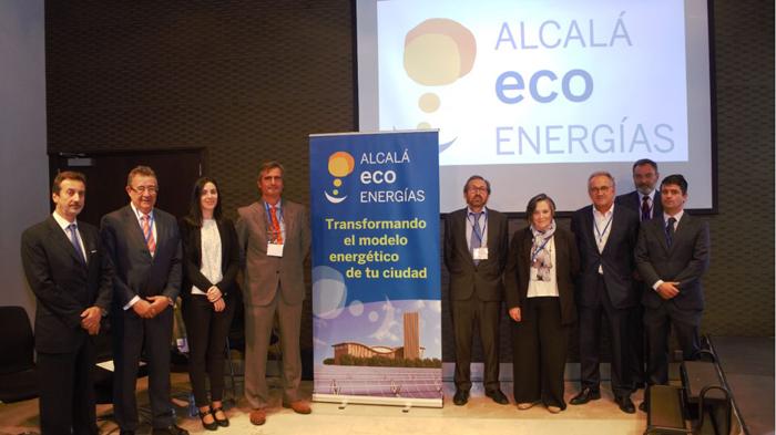 Foto de familia de la presentación del proyecto Alcalá Eco Energía