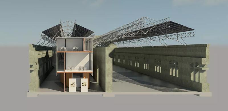 Aprovechar las energías renovables en la rehabilitación de las antiguas naves de Renfe.