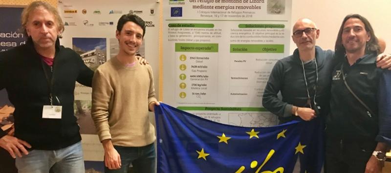 La iniciativa europea SustainHuts ha evitado la emisión de más de 6 t de CO2 en el refugio montañero de Lizara • ESEFICIENCIA