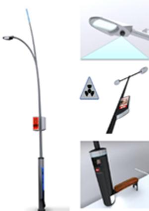 Figura 1. Ejemplos de ubicación de los sensores en el alumbrado público.