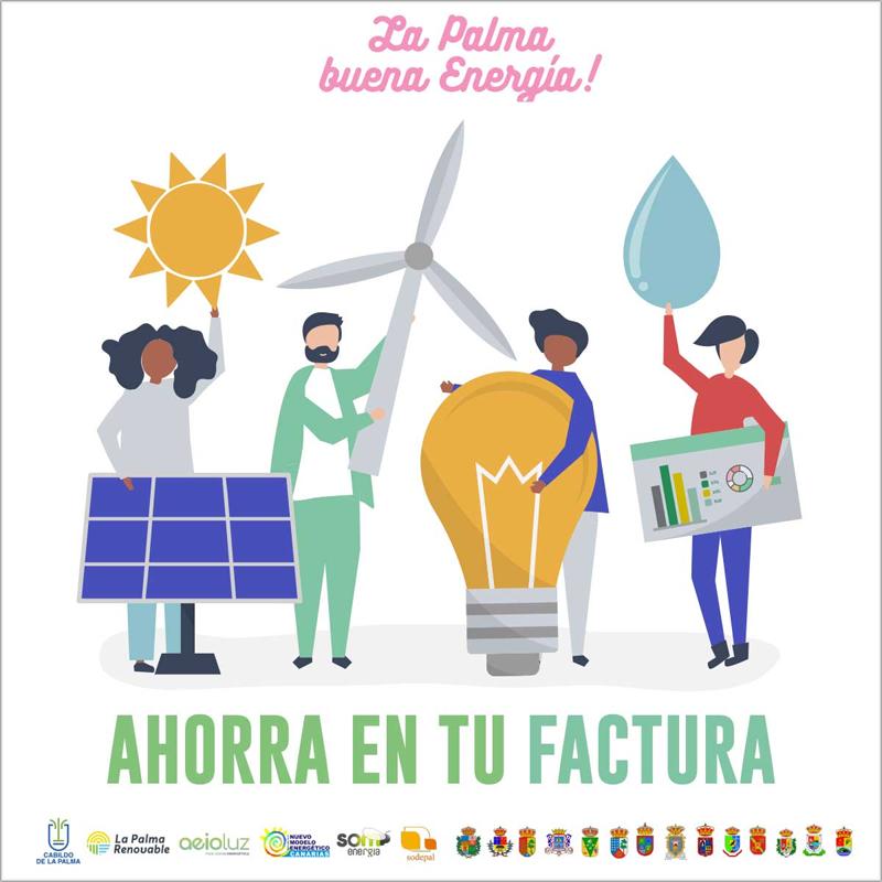 La Palma Renovable y AeioLuz implementan las primeras acciones del Plan contra la Pobreza Energética en la isla.