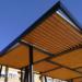 Las primeras pérgolas fotovoltaicas para suministrar energía a un parque valenciano ya están instaladas