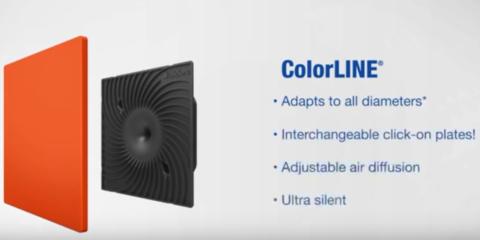 Rejilla de ventilación multicolor Colorline: La cita