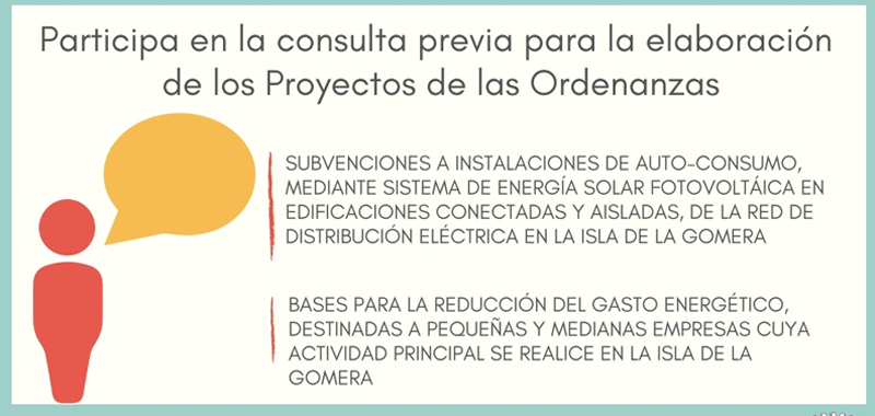 La Gomera recoge las propuestas ciudadanas para las bases de los incentivos a la implantación de renovables en la Isla