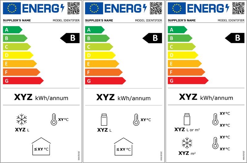 Nuevas etiquetas de eficiencia energética de frigoríficos industriales.