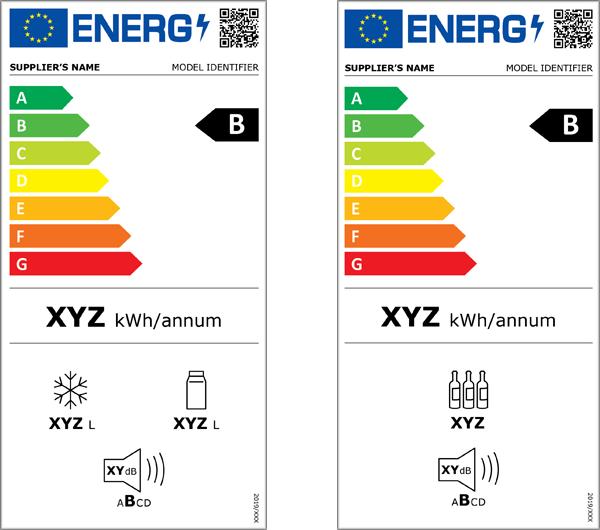Nuevas etiquetas de eficiencia energética de frigorificos y frigorificos para vinos.