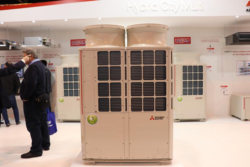 Stand de Mitsubishi en Climatización y Refrigeración.