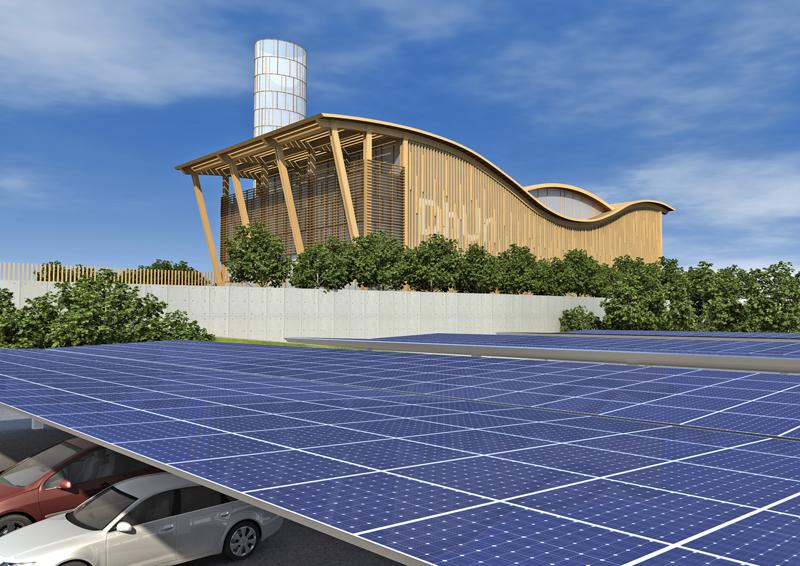 Central térmica de la red de calor de Alcalá de Henares, construida también por DH Eco Energías.